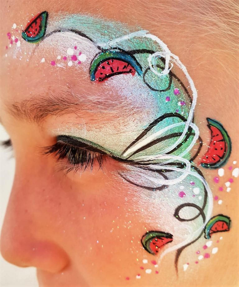 de_schminkkoffer_facepaint_eye_design_schmink_festival_paint_watermeloen_facepaint